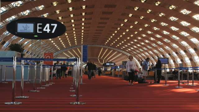 airport terminal - ile de france stock videos and b-roll footage