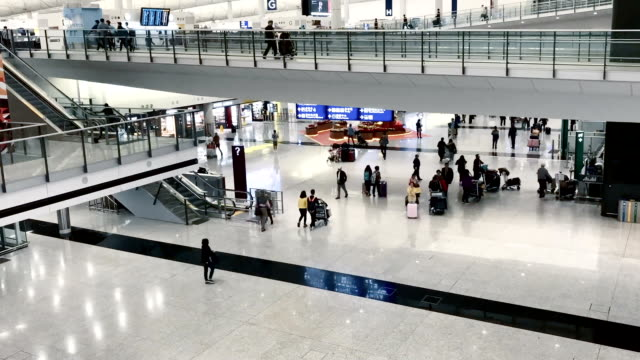 airport timelapse - hong kong international airport stock videos and b-roll footage