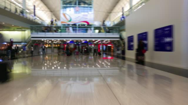 Flughafen-Reisende-Zeitraffer