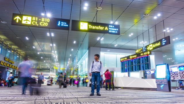 airport travelers time lapse - information sign stock videos and b-roll footage