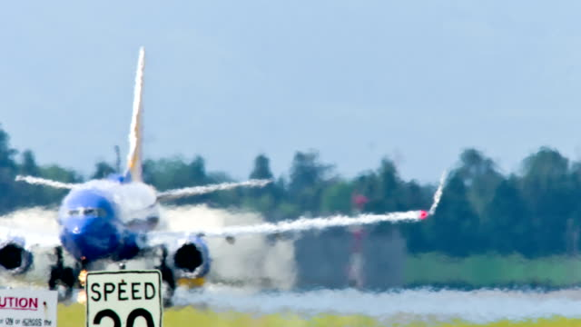 airport - exhaustion stock videos & royalty-free footage