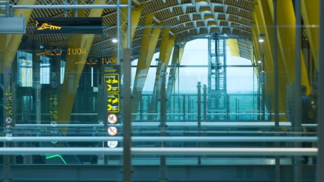 Airport walking escalator