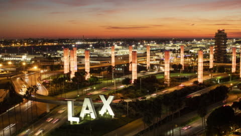 lax airport with rush hour traffic - los angeles county stock videos & royalty-free footage