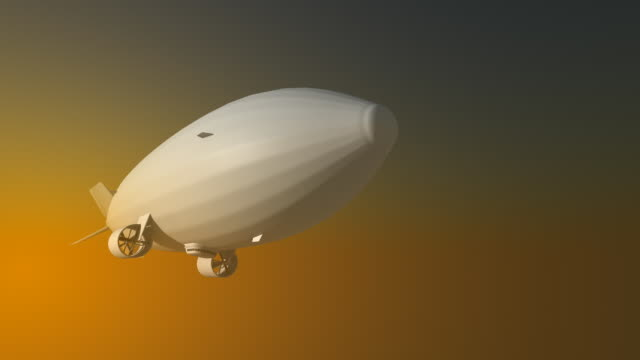 airship 3d - airship stock videos & royalty-free footage