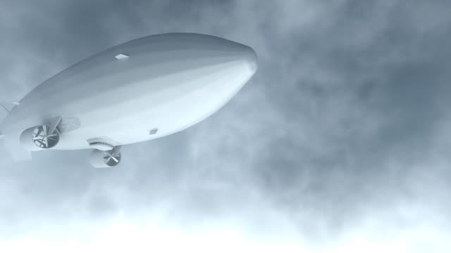 airship flyby render - airship stock videos & royalty-free footage