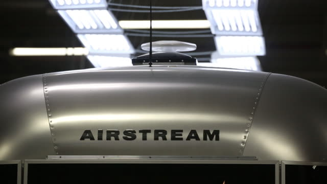 airstream inc. assembly plant where airstream rv travel trailers are assembled in jackson center, ohio, u.s., on friday, november 15, 2019. - trailer stock videos & royalty-free footage