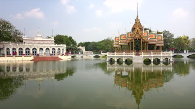 Aisawan Dhiphya-Asana Pavilion at Bang Pa-In Royal Palace in Ayutthaya, Thailand