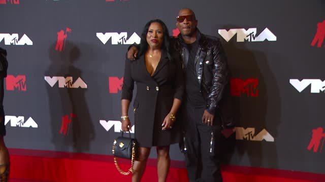 aisha atkins and ja rulearrive at the 2021 mtv video music awards at barclays center on september 12, 2021 in the brooklyn borough of new york city. - mtv video music awards stock videos & royalty-free footage