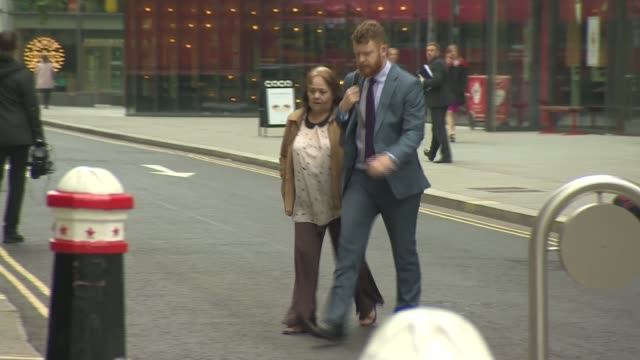 Two nurses go on trial ENGLAND London Old Bailey EXT Gemma Pullen arriving at court Margaret Miller arriving at court with unidentified man