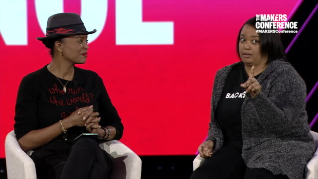 INTERVIEW Aisha Tyler and Arlan Hamilton at The 2019 MAKERS Conference Day Two at Monarch Beach Resort on February 7 2019 in Dana Point California
