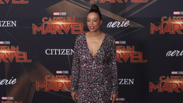 Aisha Tyler at the 'Captain Marvel' World Premiere at the El Capitan Theatre on March 04 2019 in Hollywood California