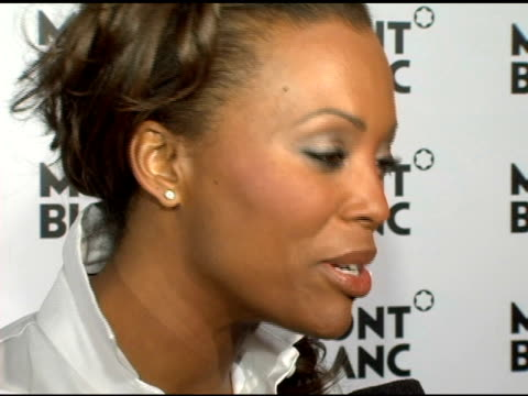 Aisha Tyler at the Celebration of Montblanc's 100th Anniversary with the Launch of Diamond at the Newspace in New York New York on March 14 2006