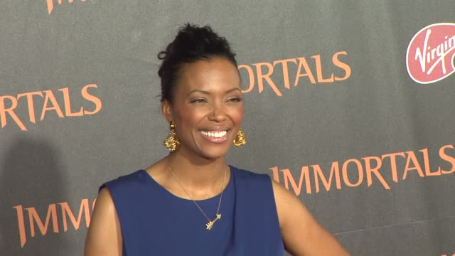 Aisha Tyler at the 'Immortals' Los Angeles Premiere at Los Angeles CA