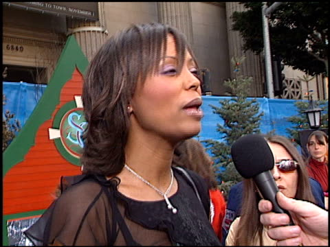 Aisha Tyler at the Premiere of 'The Santa Clause II' at the El Capitan Theatre in Hollywood California on October 27 2002
