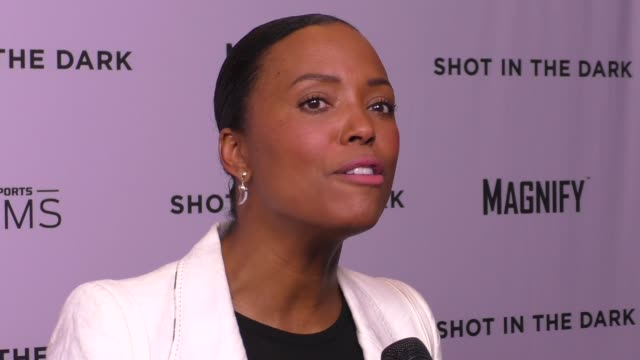 Aisha Tyler attends the Shot In The Dark premiere panel discussion at Pacific Design Center in West Hollywood in Celebrity Sightings in Los Angeles
