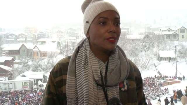 INTERVIEW Aisha Tyler on not despairing and keeping hope alive at Chelsea Handler Leads The Women's March On Main on January 21 2017 in Park City Utah