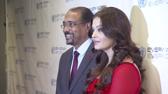 Aishwarya Rai and guest at United Nations Every Woman Every Child Dinner 2012 at MOMA on September 25 2012 in New York New York