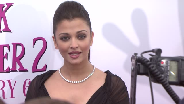Aishwarya Rai at the World Premiere of The Pink Panther 2 at New York NY