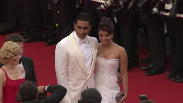 Aishwarya Rai Bachchan and Abhishek Bachchan at the Cannes Film Festival 2009 Opening Night/Up Steps at Cannes