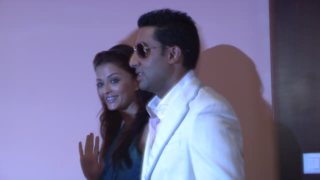 Aishwarya Rai Bachchan and Abhishek Bachchan at the Cannes Film Festival 2009 Cinema Verite photocall and press conference at Cannes
