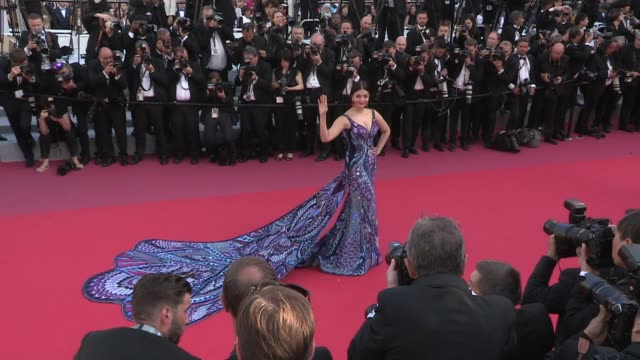 Aishwarya Rai on the red carpet for the Premiere of Les Filles Du Soleil at the Cannes Film Festival 2018 Saturday 12 May 2018 Cannes France