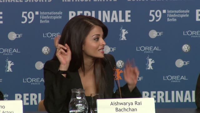 Aishwarya Rai on why it was an easy choice to star in the film at the 59th Berlin Film Festival Pink Panther 2 Press Conference at Berlin