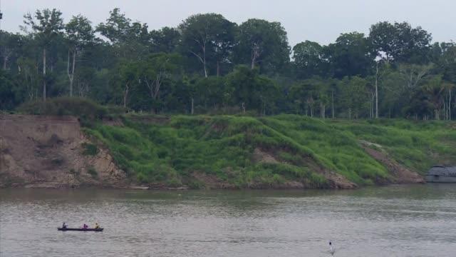aisladas de cualquier centro poblado y a las orillas de los rios pequenas comunidades con escasez de servicios protegen parte de la amazonia... - desafio stock videos and b-roll footage
