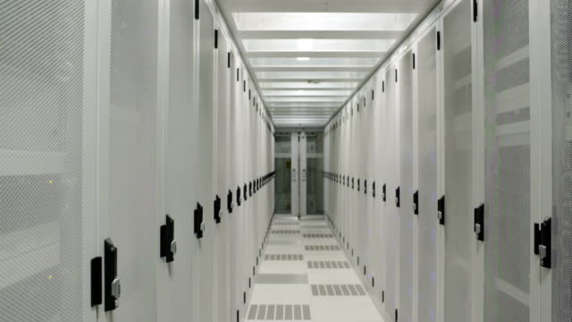 aisle in data center - information equipment stock videos & royalty-free footage