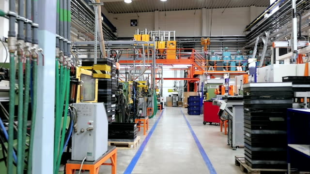Aisle in factory processing injection molding