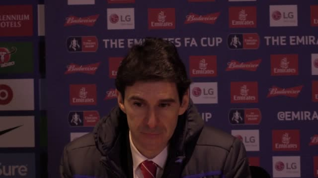 Aitor Karanka postmatch press conference after Chelsea FA Cup game