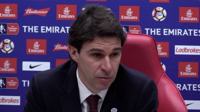 aitor karanka reflects on middlesbrough 02 man city in the fa cup - middlesbrough stock videos and b-roll footage
