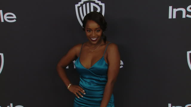 aja naomi king at the warner bros. and instyle host 20th annual post-golden globes party at the beverly hilton hotel on january 6, 2019 in beverly... - the beverly hilton hotel stock videos & royalty-free footage