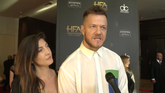 INTERVIEW Aja Volkman and Dan Reynolds on some of the most exciting aspects of the Hollywood Film Awards at the 22nd Annual Hollywood Film Awards at...
