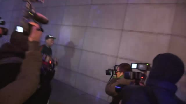 YG Aka Keenon Jackson entering the Jay Z Magna Carter Concert at Staples LA in Hollywood Celebrity Sightings in Los Angeles CA on 12/09/13