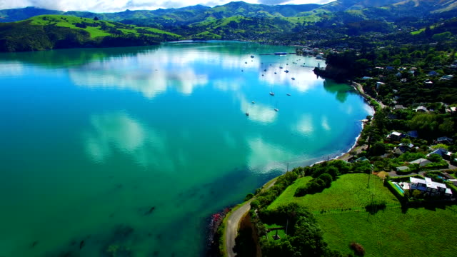 akaroa - christchurch stock-videos und b-roll-filmmaterial