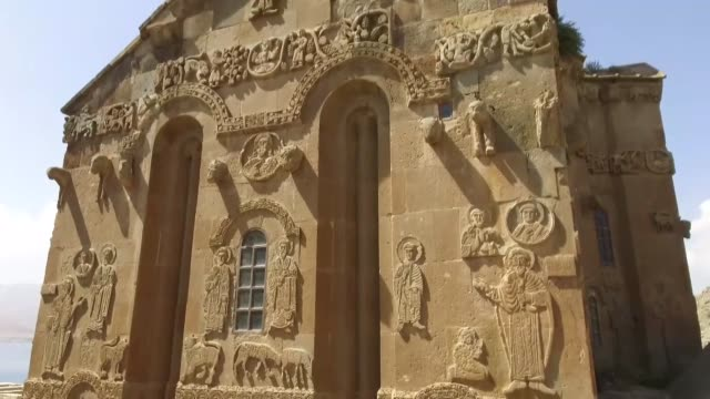 akdamar church a medieval armenian church in turkey's eastern van province draws the interest of foreign and domestic visitors the church located on... - lake van stock videos and b-roll footage