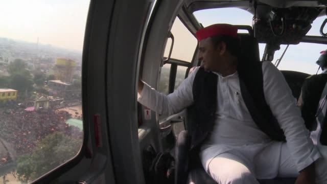 Akhilesh Yadav the chief minister of India's most populous state Uttar Pradesh campaigns ahead of legislative elections that will be a key test of...