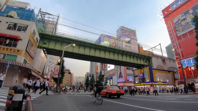 akihabara district in tokyo, timelapse - manga style stock videos & royalty-free footage