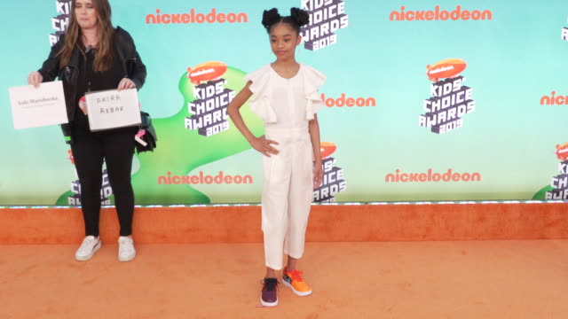 Akira Akbar at the Nickelodeon's 2019 Kids' Choice Awards at Galen Center on March 23 2019 in Los Angeles California