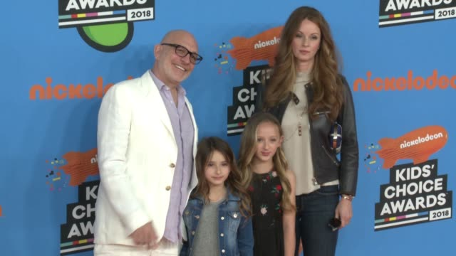 akiva goldsman ever goldsman lily goldsman and joann richter at the nickelodeon's 2018 kids' choice awards at the forum on march 24 2018 in inglewood... - 31st annual nickelodeon kids' choice awards stock videos and b-roll footage