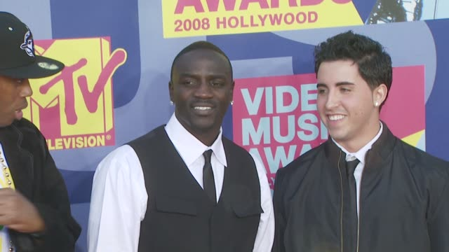 Akon at the 2008 MTV Video Music Awards at Los Angeles CA