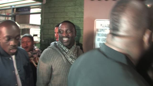 akon at the playhouse in hollywood 02/14/11 at the celebrity sightings in los angeles at los angeles ca - playhouse stock videos & royalty-free footage