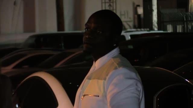 akon entourage at ace of diamonds in los angeles in celebrity sightings in los angeles - ace stock videos and b-roll footage