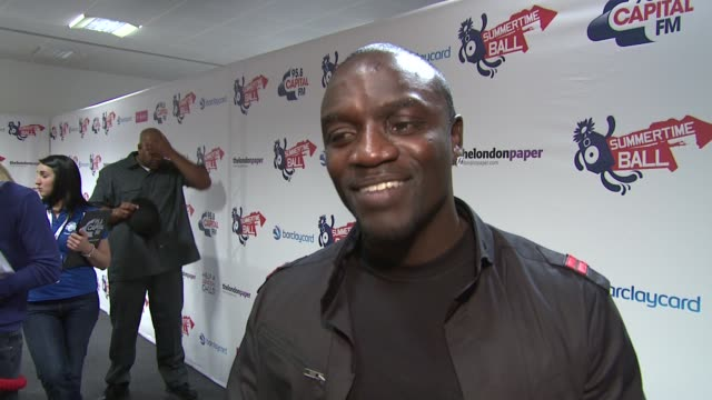 akon on his huge diamond watch on the rain on working with x factor winner alexandra burke at the moment he loves london may buy a house here on his... - lionel richie stock videos & royalty-free footage