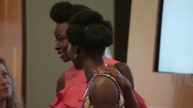 akosua busia saycon sengbloh lupita nyong'o zainab jah and pascale armand attend seventh annual lilly awards at signature theatre - saycon sengbloh stock videos and b-roll footage
