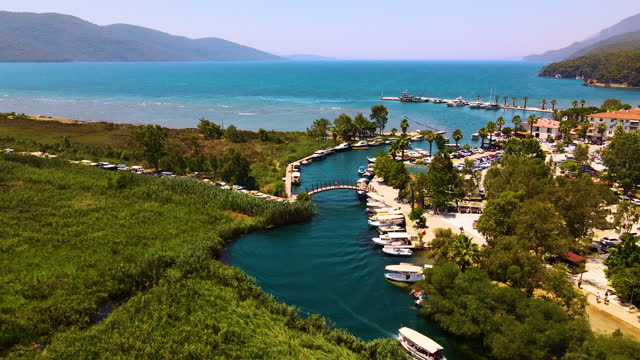 akyaka cityscape, coastline and landscape aerial - 1940 stock videos & royalty-free footage