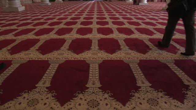 al aqsa mosque main hall interior, jerusalem, israel - al aqsa mosque stock videos and b-roll footage