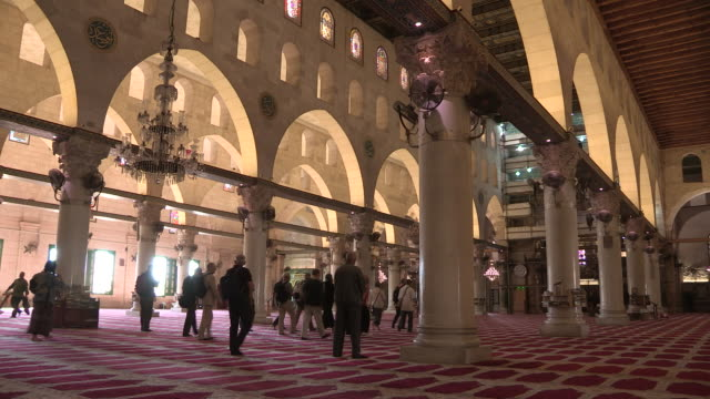 al aqsa mosque main hall, jerusalem, israel - al aqsa mosque stock videos and b-roll footage