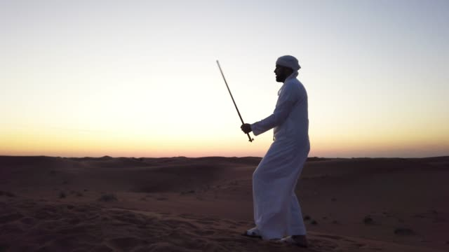 al ayala dance - a traditional arab dance with a stick - middle eastern ethnicity stock videos & royalty-free footage