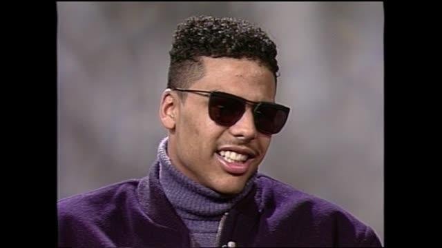 al b sure interview from 1988 pt1 - b rolle stock-videos und b-roll-filmmaterial